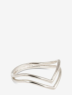 Tiny Arrow Fingertip Ring Silver - ringar - silver