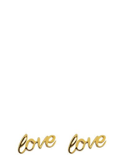 SNAP EARRINGS LOVE GOLD - GOLD
