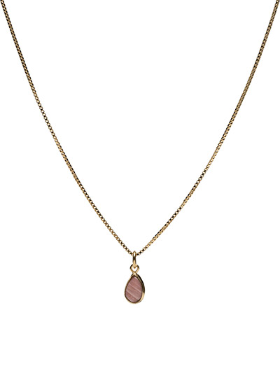 Beloved Chain Gold Pink Opal - GOLD