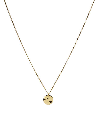 MINIMALISTICA HAMMERED CIRCLE NECKLACE GOLD - GOLD