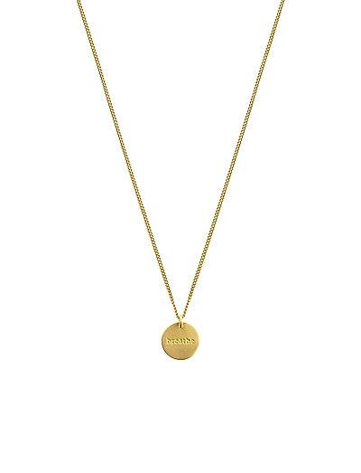 MINIMALISTICA BREATHE NECKLACE GOLD - GOLD