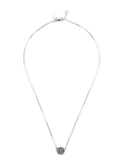 Frances Druzy Necklace Silver Lavender - SILVER