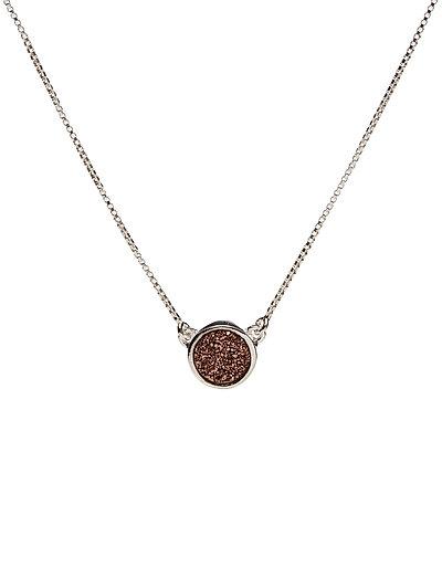 Frances Druzy Necklace Silver Rose - SILVER