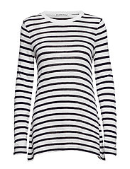 CLASSIC STRIPED SLUB JERSEY L/S TEE - INK AND IVORY
