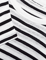T by Alexander Wang - CLASSIC STRIPED SLUB JERSEY L/S TEE - raidalliset t-paidat - ink and ivory - 2