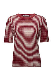 T By Alexander Wang - Striped Slub Jersey Tee In Mini Stripe