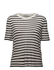STRIPED SLUB JERSEY CLASSIC TEE - INK AND IVORY