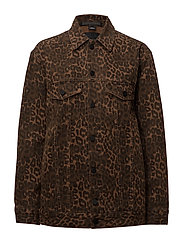 T By Alexander Wang - Daze Jacket Tan Leopard Print