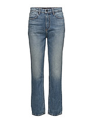 T by Alexander Wang CULT CROPPED STRAIGHT LIGHT INDIGO AGED - LIGHT INDIGO AGED