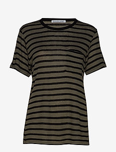 NEW STRIPED SLUB - SS TOP - CARGO/BLACK