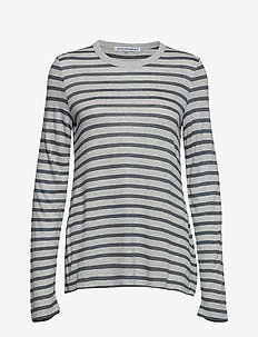 NEW STRIPED SLUB - LS TOP - HEATHER GREY/ASPHALT