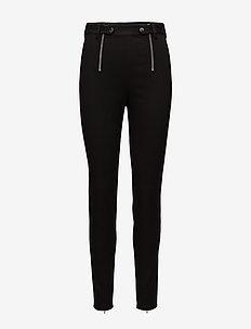 PANELLED BODYCON PANTS - BLACK