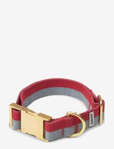 My collar - hundehalsbånd - red/faded blue