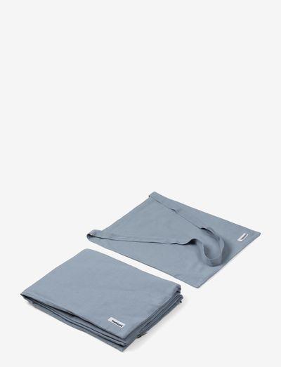 Duvet w bag - hundesenge - faded blue
