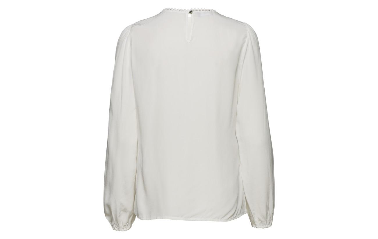 Viscose white sleeve 100 Off Blouse Long Taifun Yxw6ZICqf