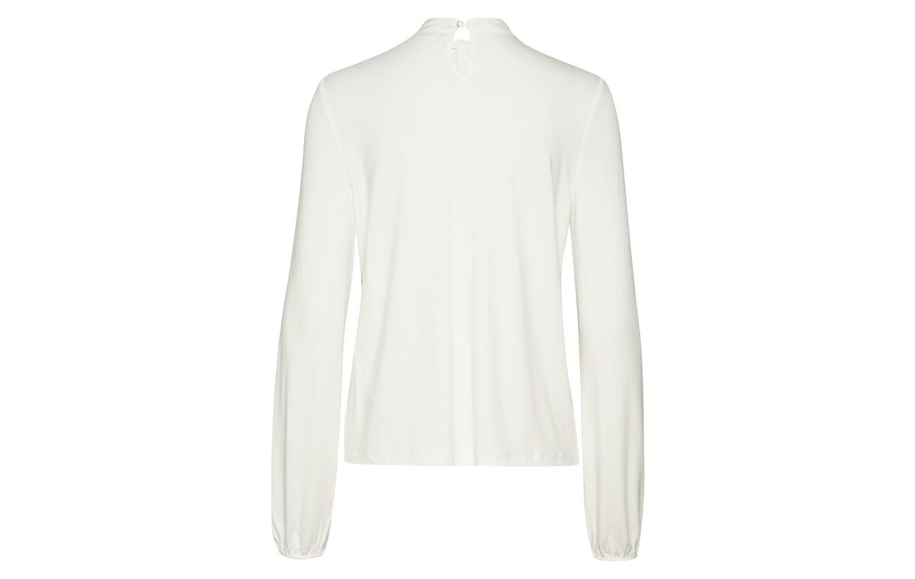 Viscose Elastane white 95 Taifun sleeve 5 T Long shirt Off 7San0Wq4Rz