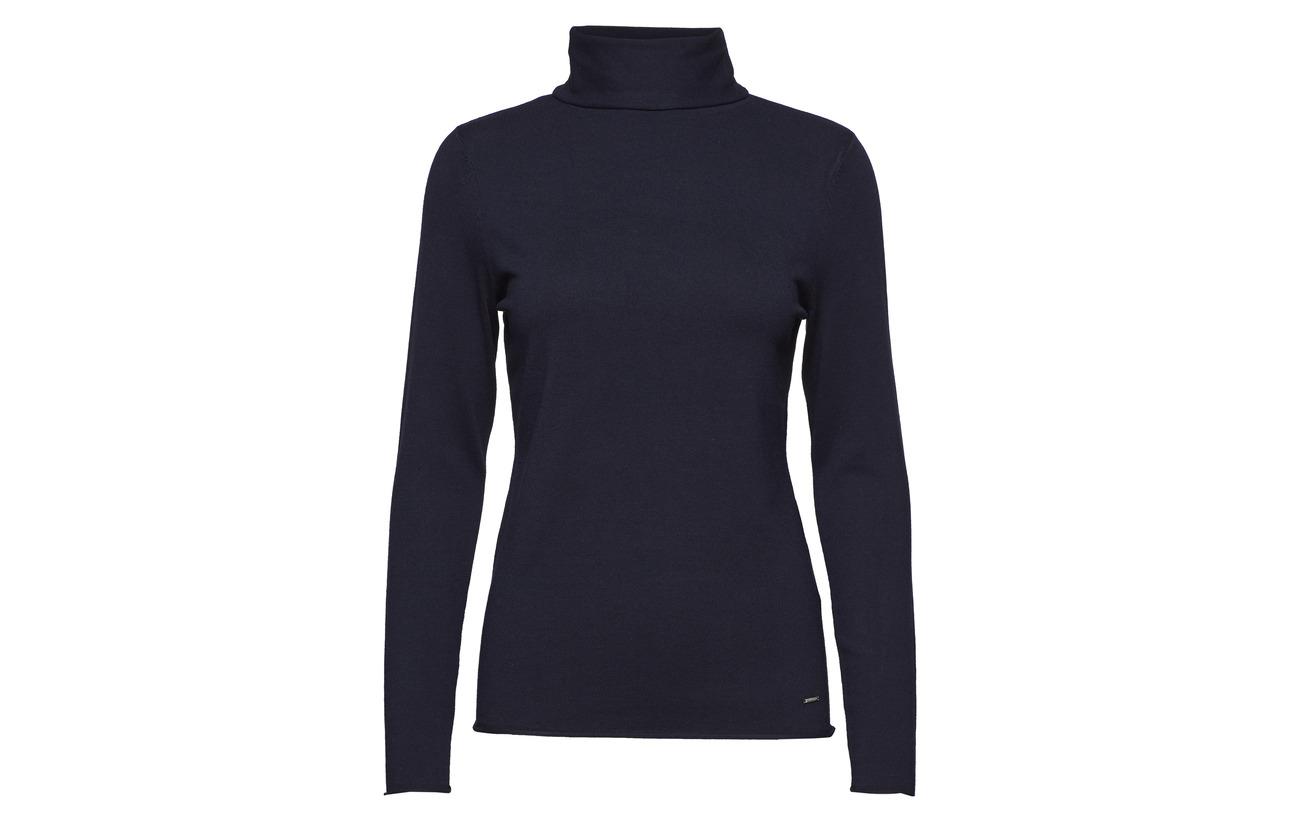 20 Polyamide Viscose Long Dark Pullover 80 sleeve Blue Taifun xw7qP80Z7