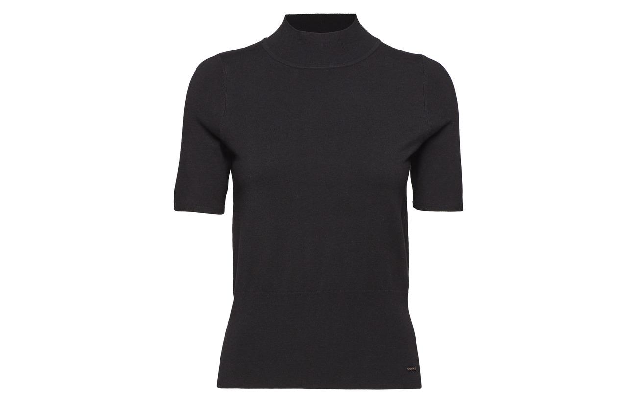 sleev Black Short 80 20 Pullover Viscose Taifun Polyamide Et5qOR