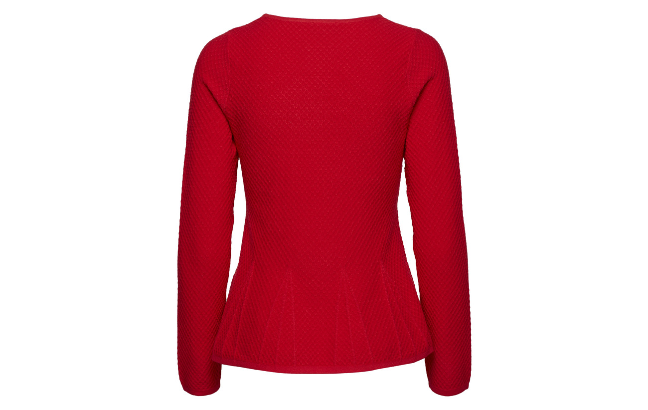 Polyamide Pullover sleeve Polyester 41 Long Viscose Elastane 19 Red 20 Taifun Poppy Un8qTxdCwU