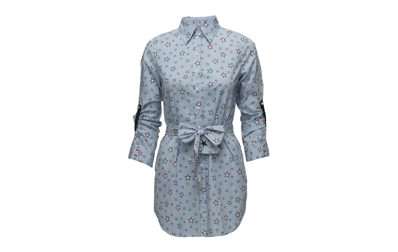 sleeve Long Parisian Print Taifun 100 Blouse Coton Blue 5EqRwnx6tF