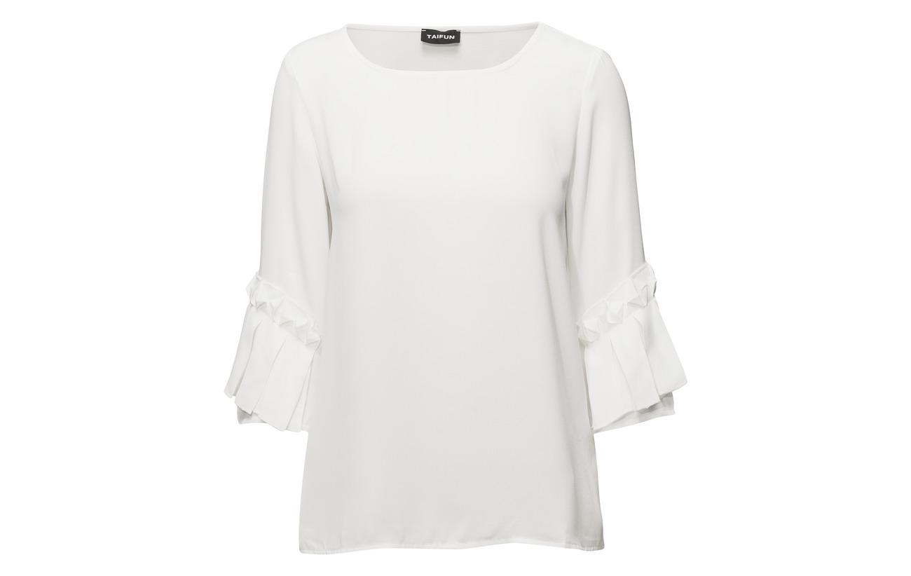 R 3 shirt T white sleeve Taifun Polyester 100 4 Off qg1XZxnwf