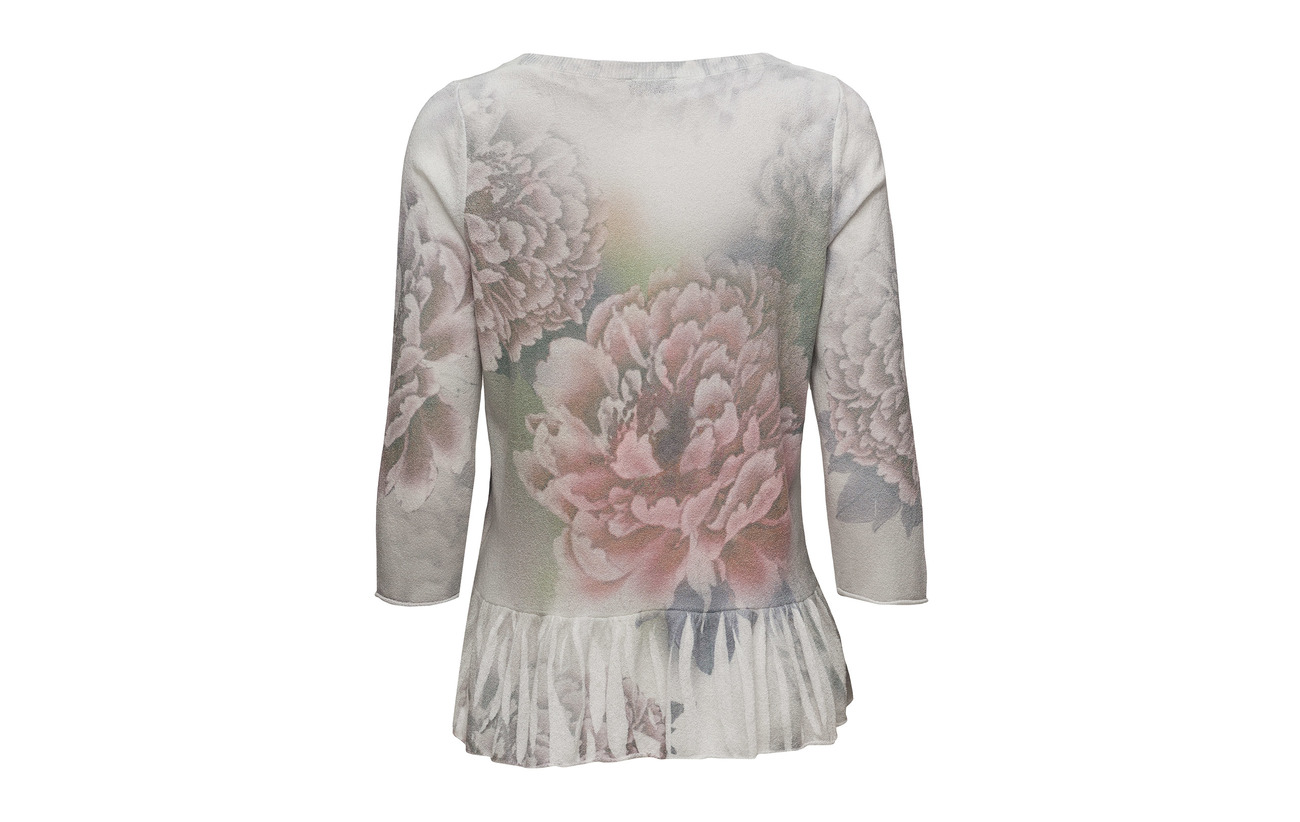 Print 23 Taifun Polyamide 38 white Pullover 3 sleeve Coton Off 4 39 Acrylique qqFwYSf4