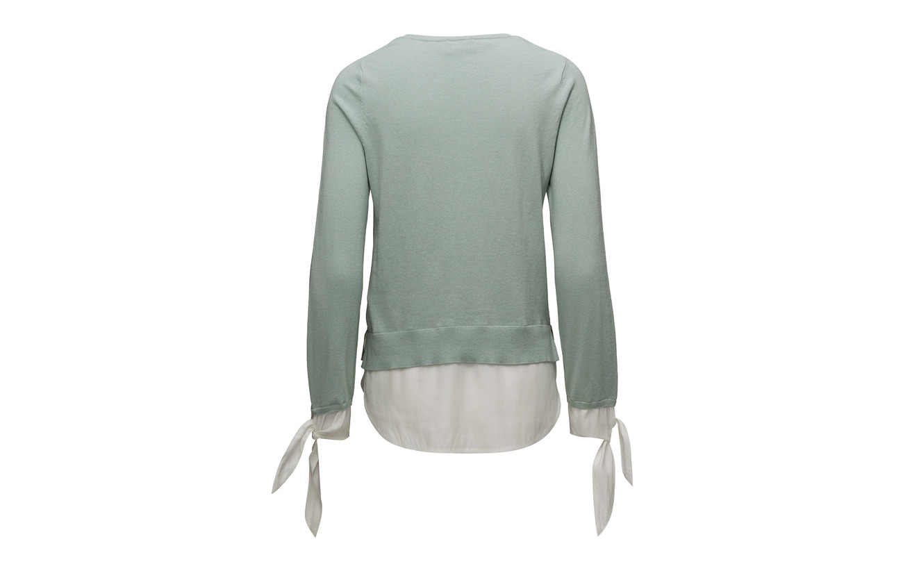 Haze 10 5 Taifun Patched Coton 55 Cachemire Viscose Long sleeve Soie 30 Pullover Blue ZIwR7Ivq