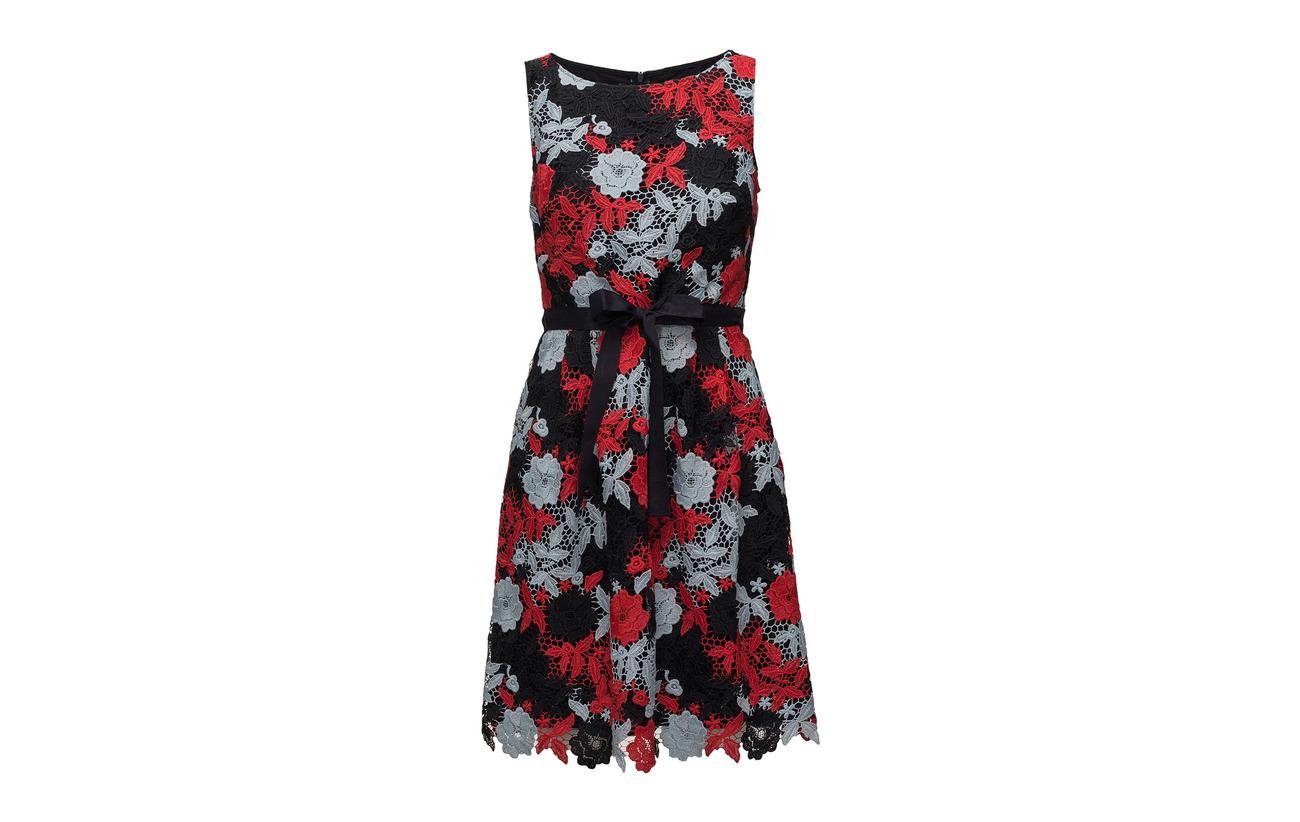 Navy Fabric Dress Woven Polyester Patterned Taifun 100 8qtTU