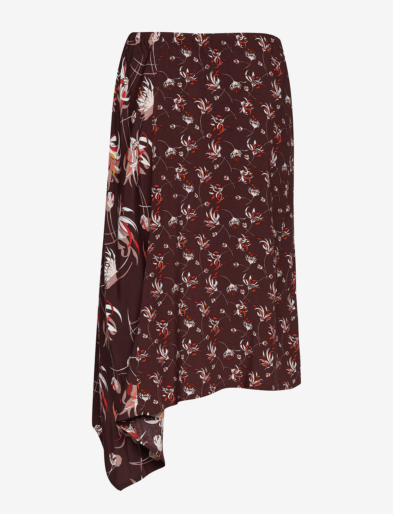 Taifun - SKIRT SHORT WOVEN FA - midi skirts - deep burgundy patterned