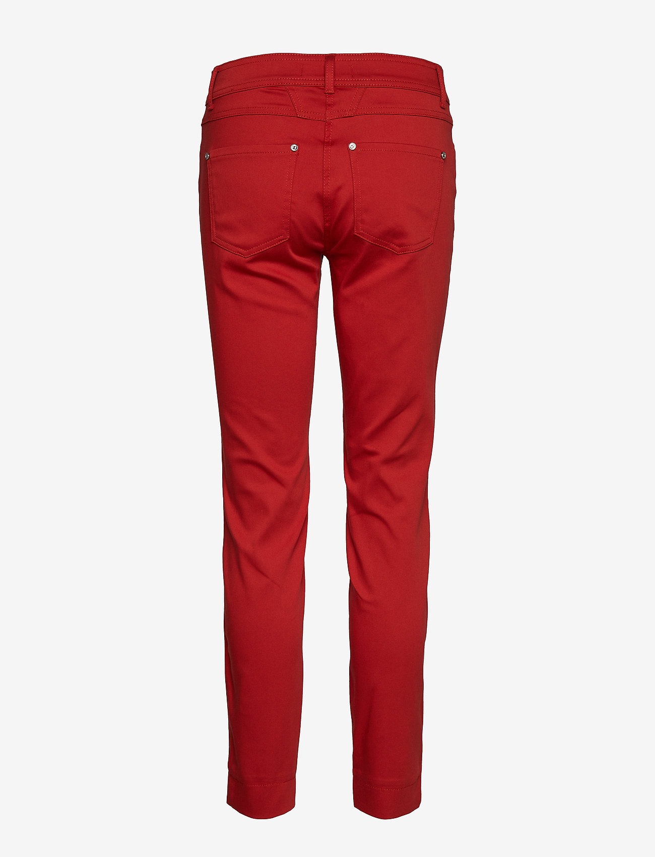 Taifun - CROP LEISURE TROUSER - straight leg trousers - spicy red