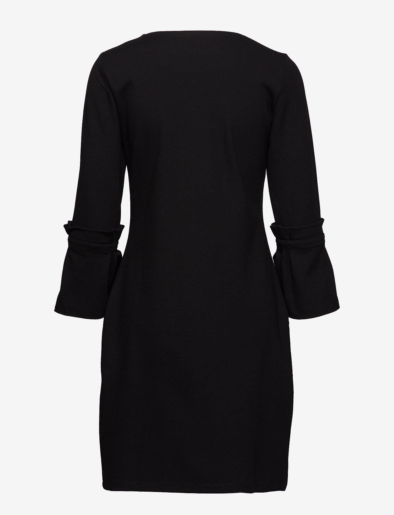 Taifun DRESS KNITTED FABRIC - Kjoler BLACK - Dameklær Spesialtilbud