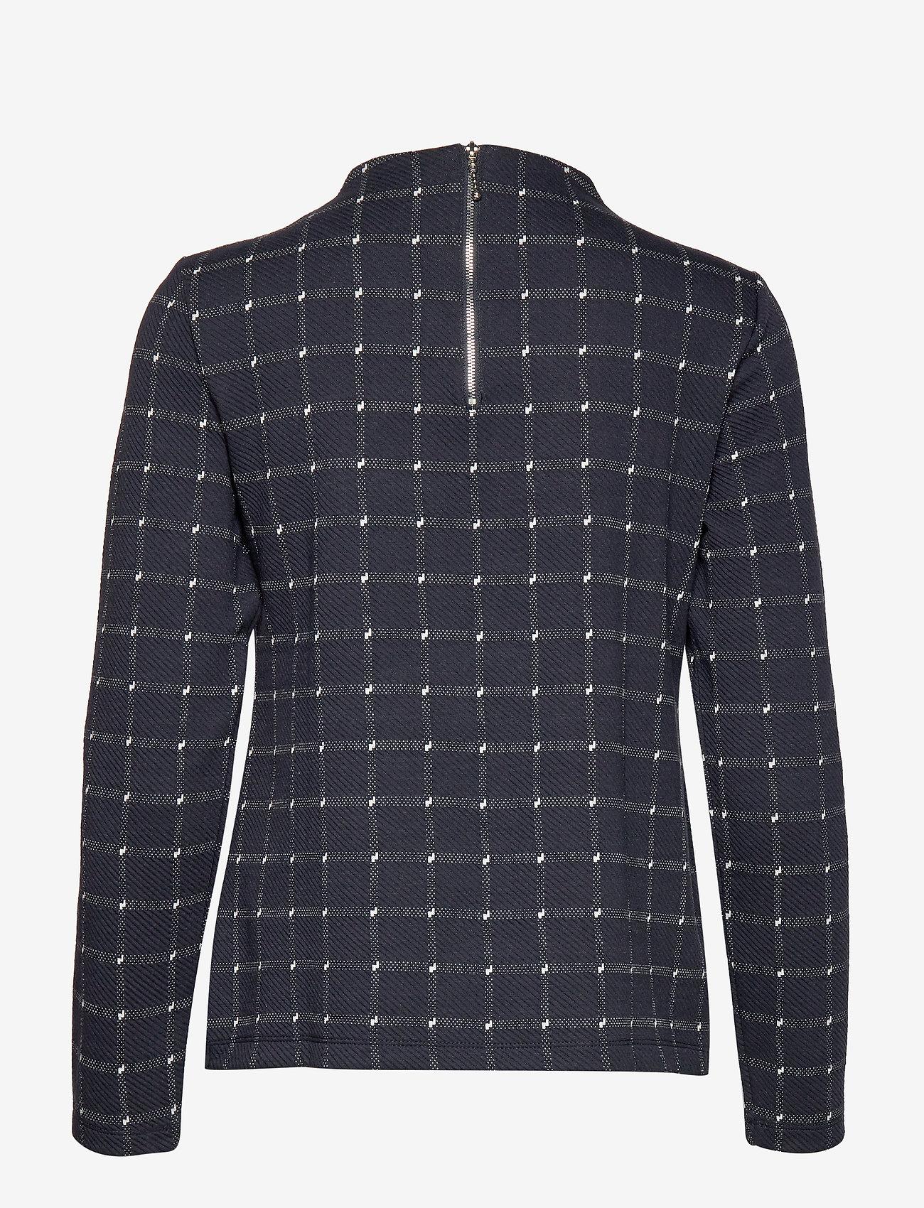 T-shirt Long-sleeve (Navy Patternd) - Taifun JJUxiT