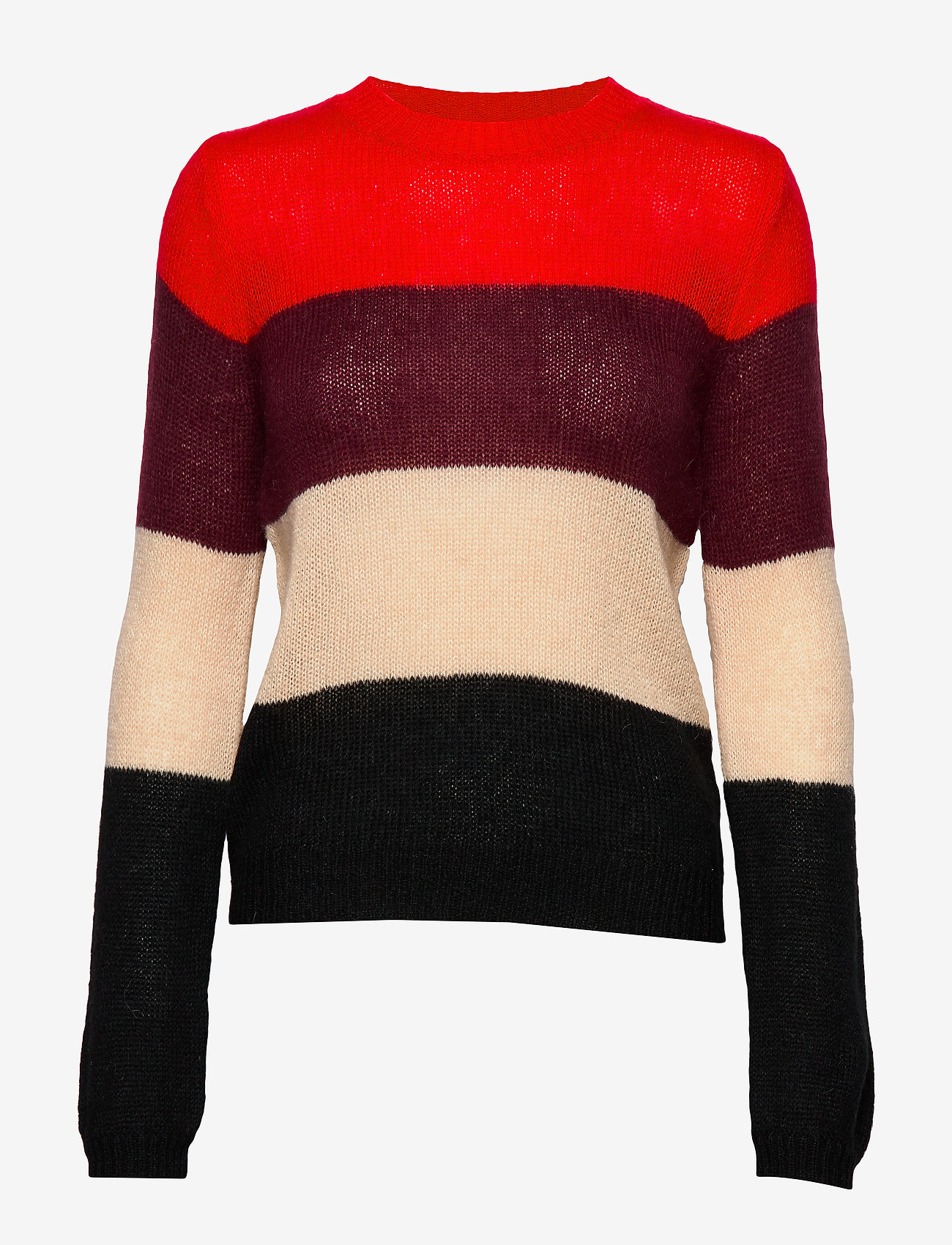 Taifun - PULLOVER LONG-SLEEVE - tröjor - lipstick red patterned - 0