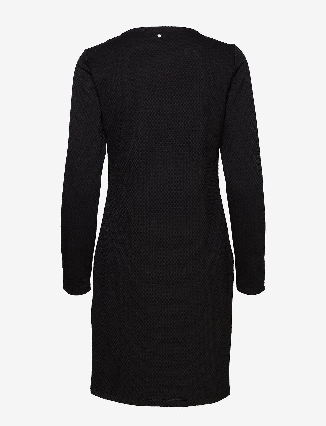 Taifun - DRESS KNITTED FABRIC - korta klänningar - black - 1