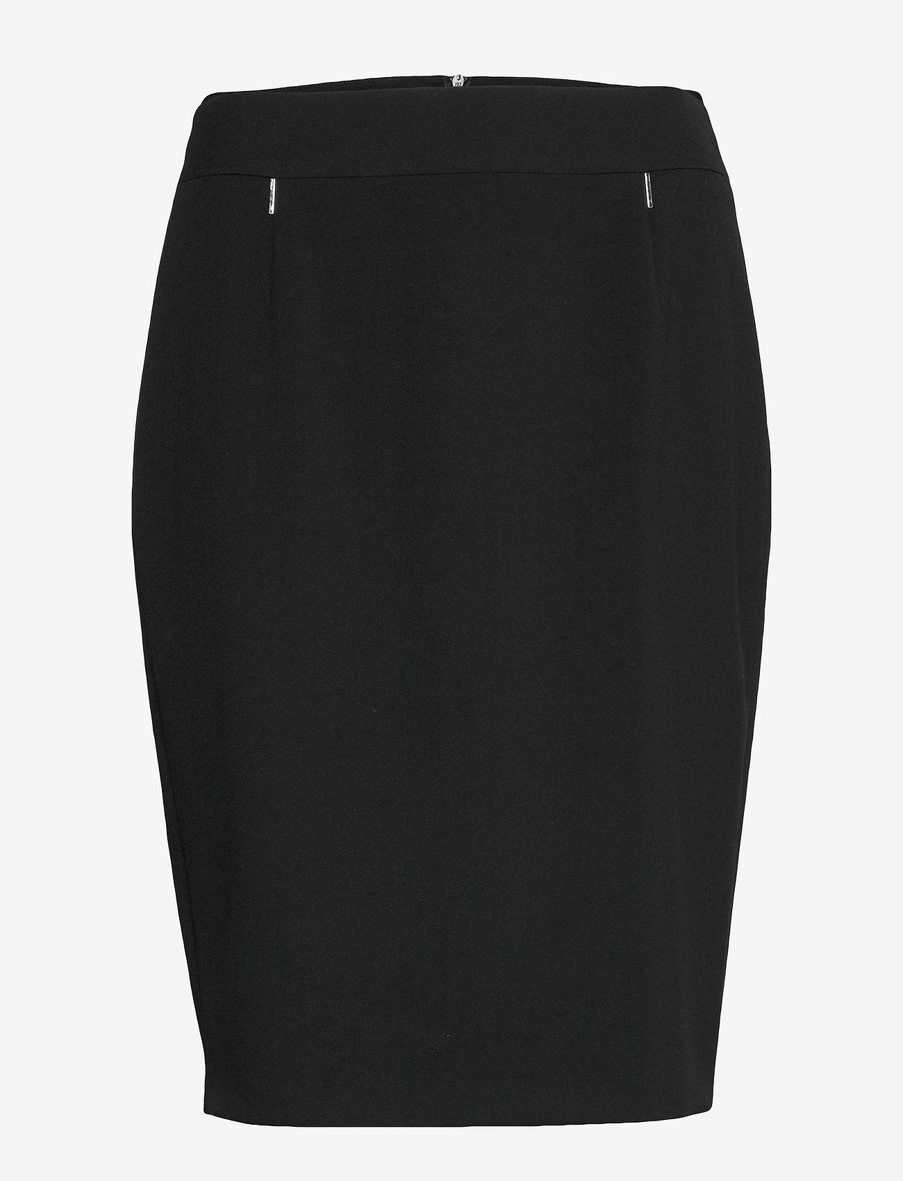 Taifun - SKIRT SHORT WOVEN FA - midi kjolar - black - 0