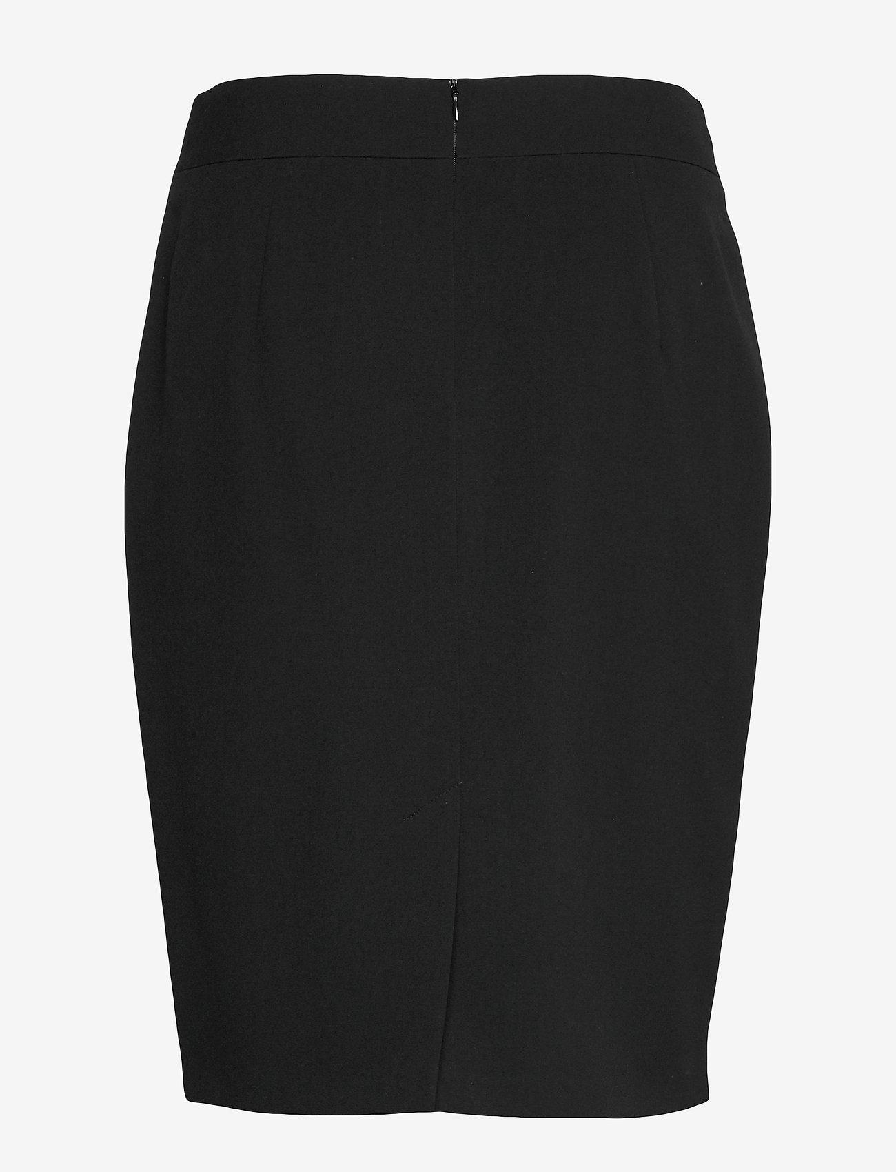 Taifun - SKIRT SHORT WOVEN FA - midi kjolar - black - 1