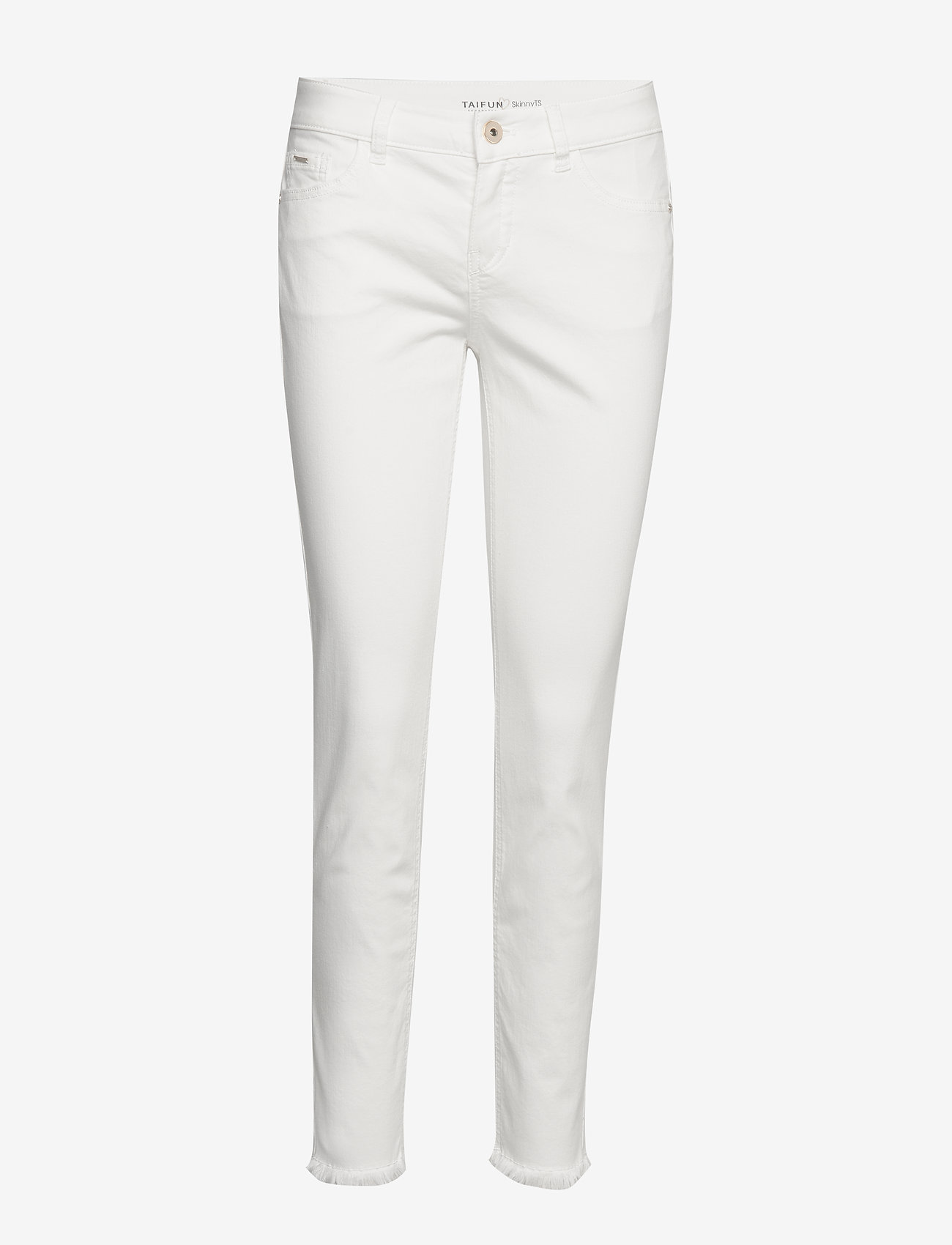 Taifun - CROP TROUSERS JEANS - skinny jeans - offwhite - 0