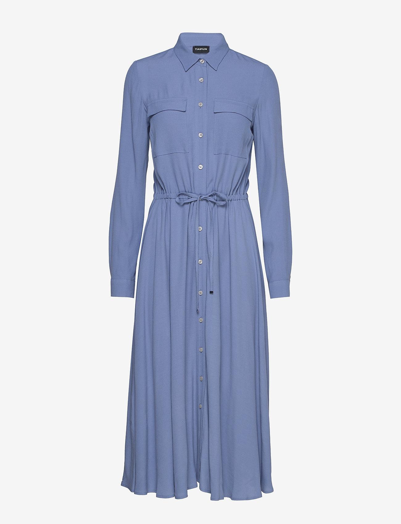 Taifun - DRESS WOVEN FABRIC - skjortklänningar - cornflower blue - 0