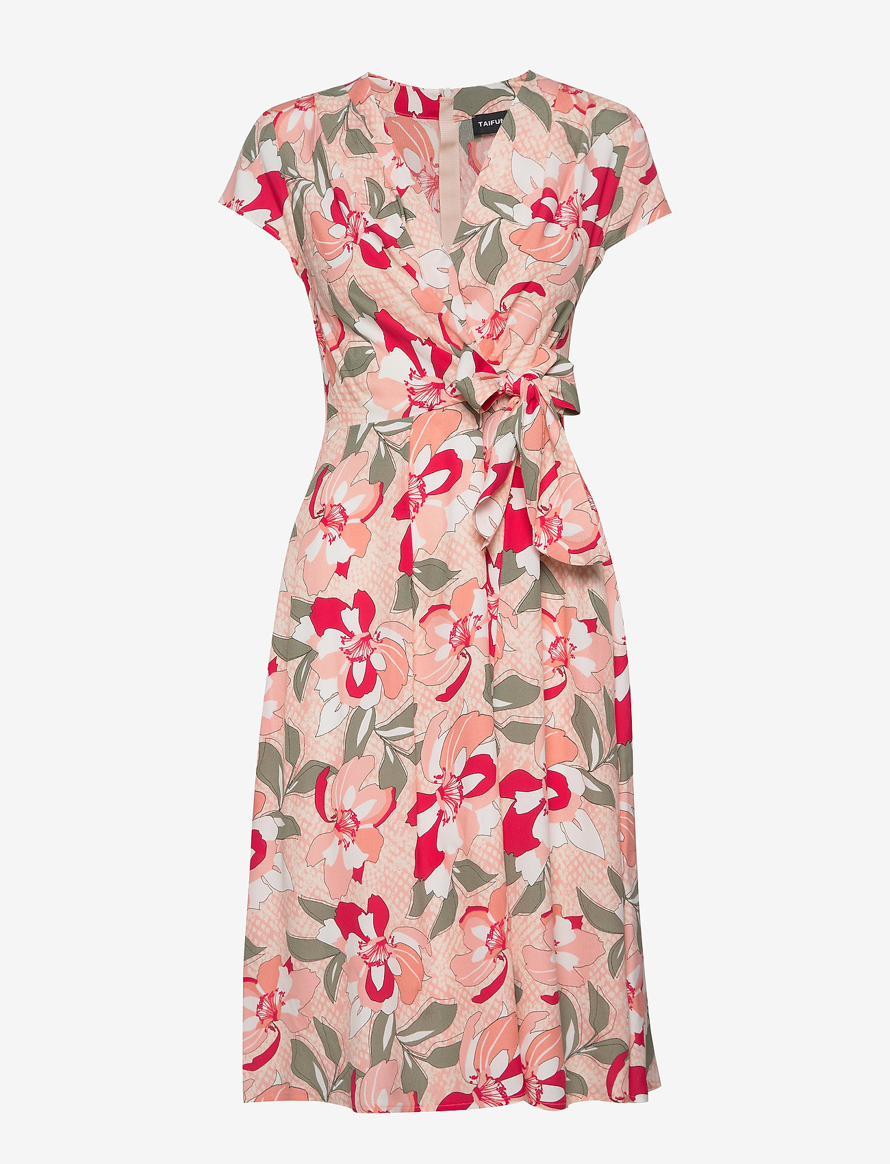 Taifun - DRESS WOVEN FABRIC - midiklänningar - apricot blush patterned - 0