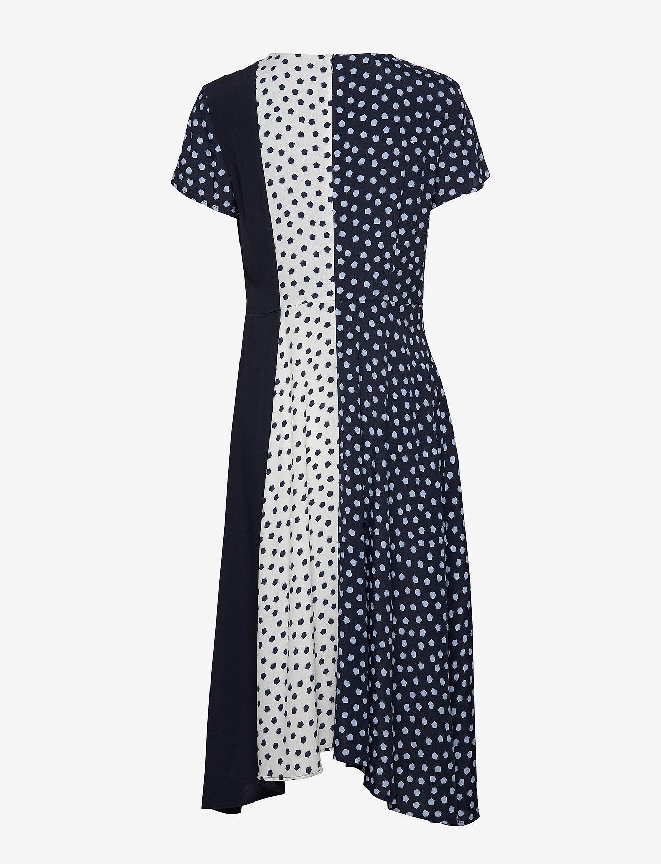 Taifun - DRESS WOVEN FABRIC - midiklänningar - blue shadow patterned - 1