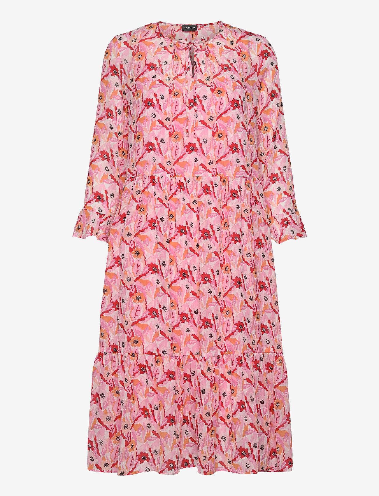 Taifun - DRESS WOVEN FABRIC - midiklänningar - pink sugar patterned - 0