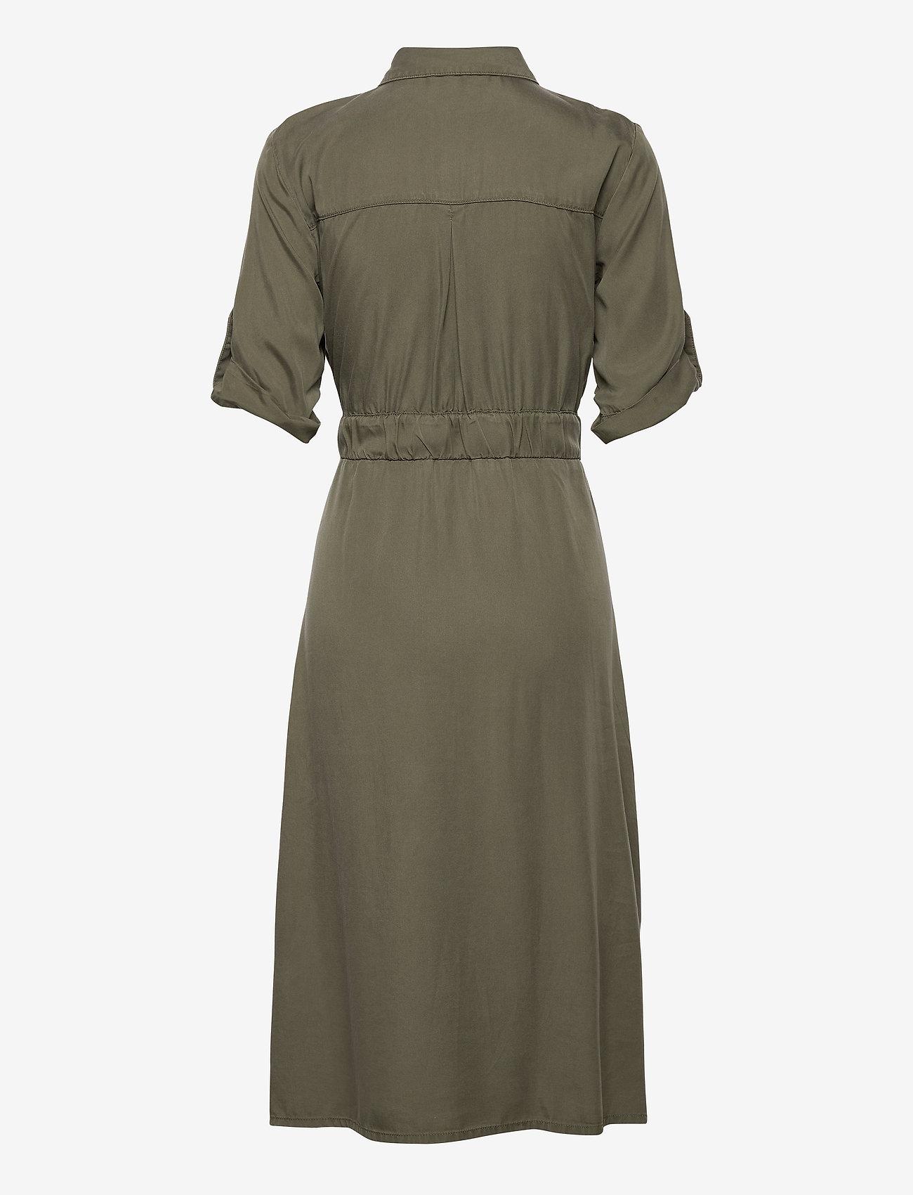 Taifun Dress Woven Fabric - Klänningar Soft Khaki