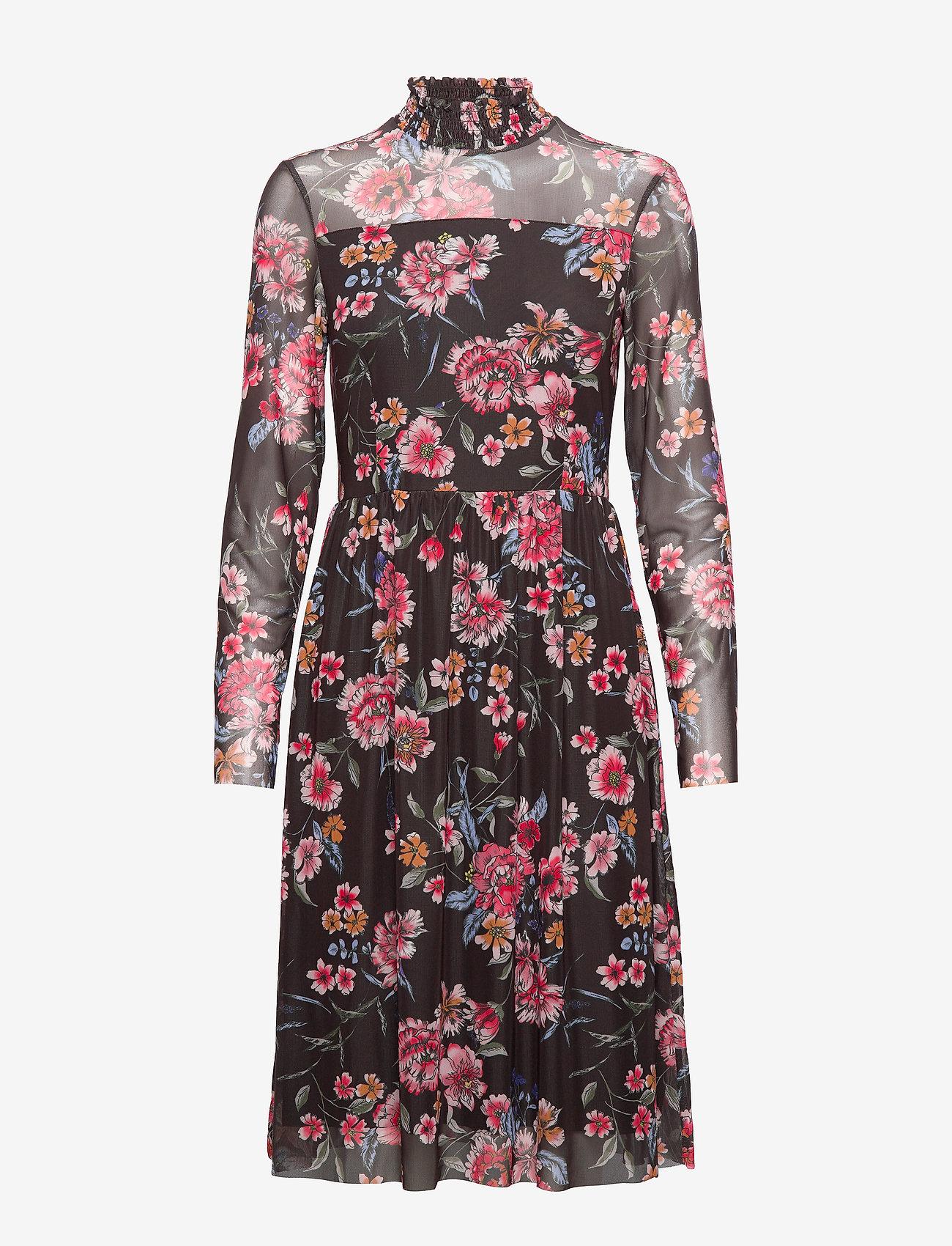Taifun - DRESS KNITTED FABRIC - midiklänningar - black patterned - 0