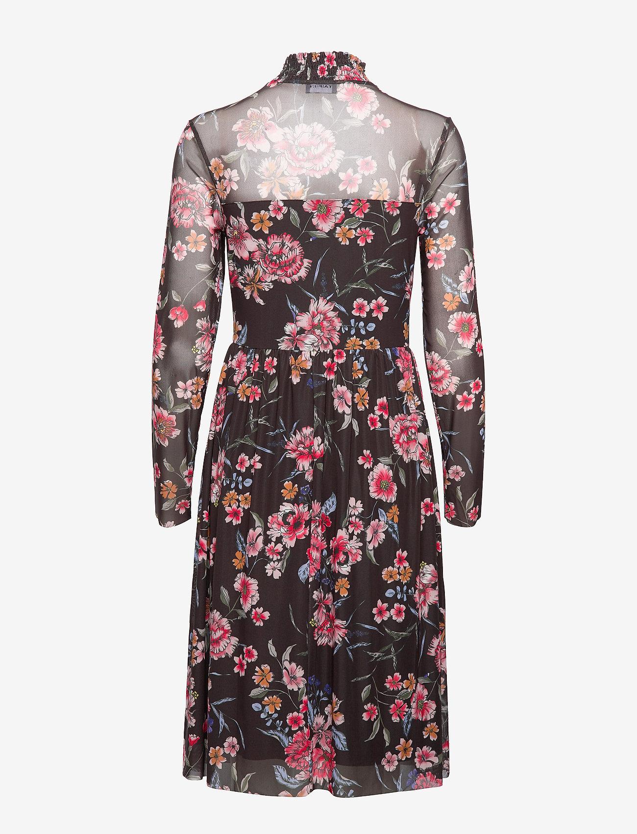 Taifun - DRESS KNITTED FABRIC - midiklänningar - black patterned - 1