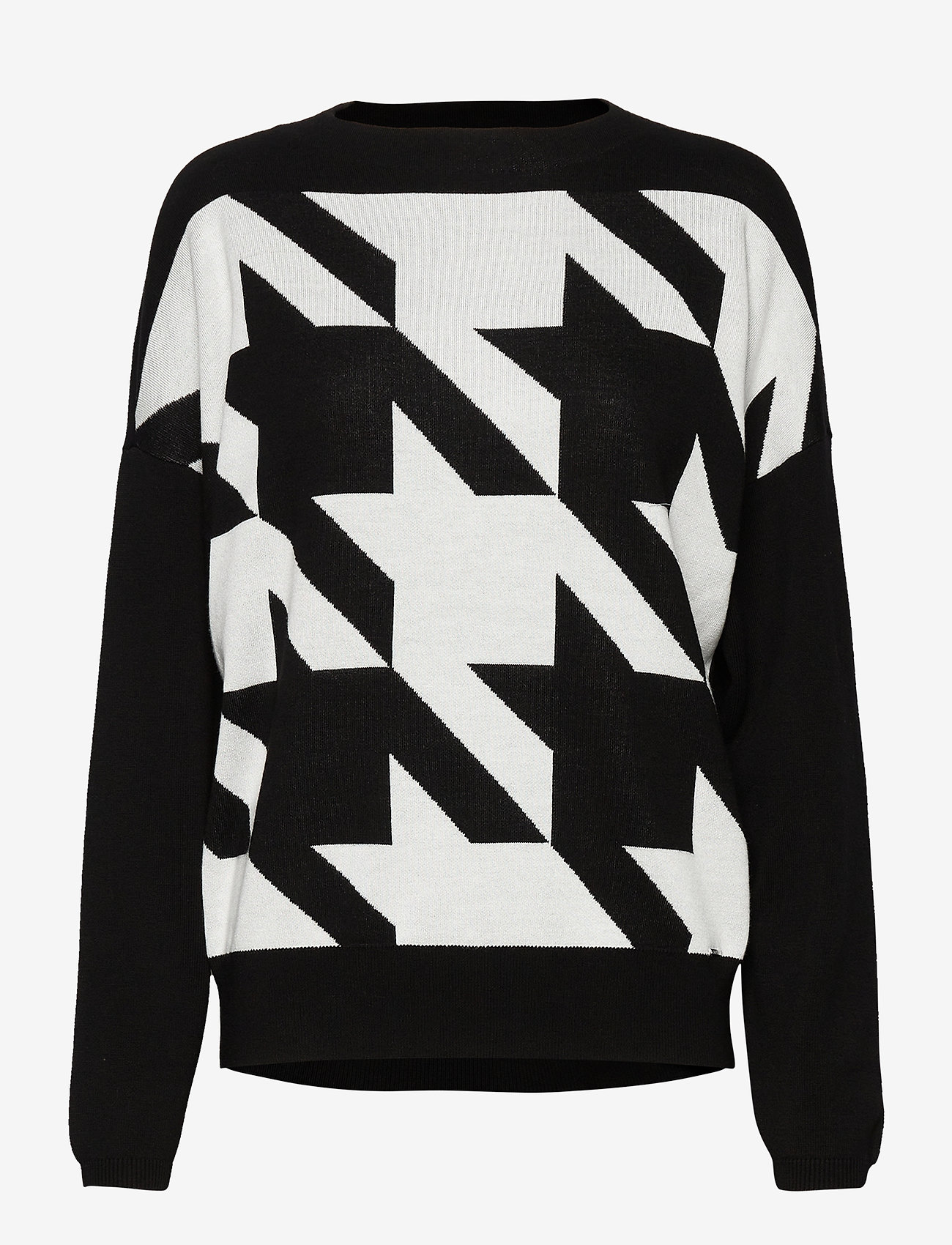 Taifun - PULLOVER LONG-SLEEVE - tröjor - black patterned - 0
