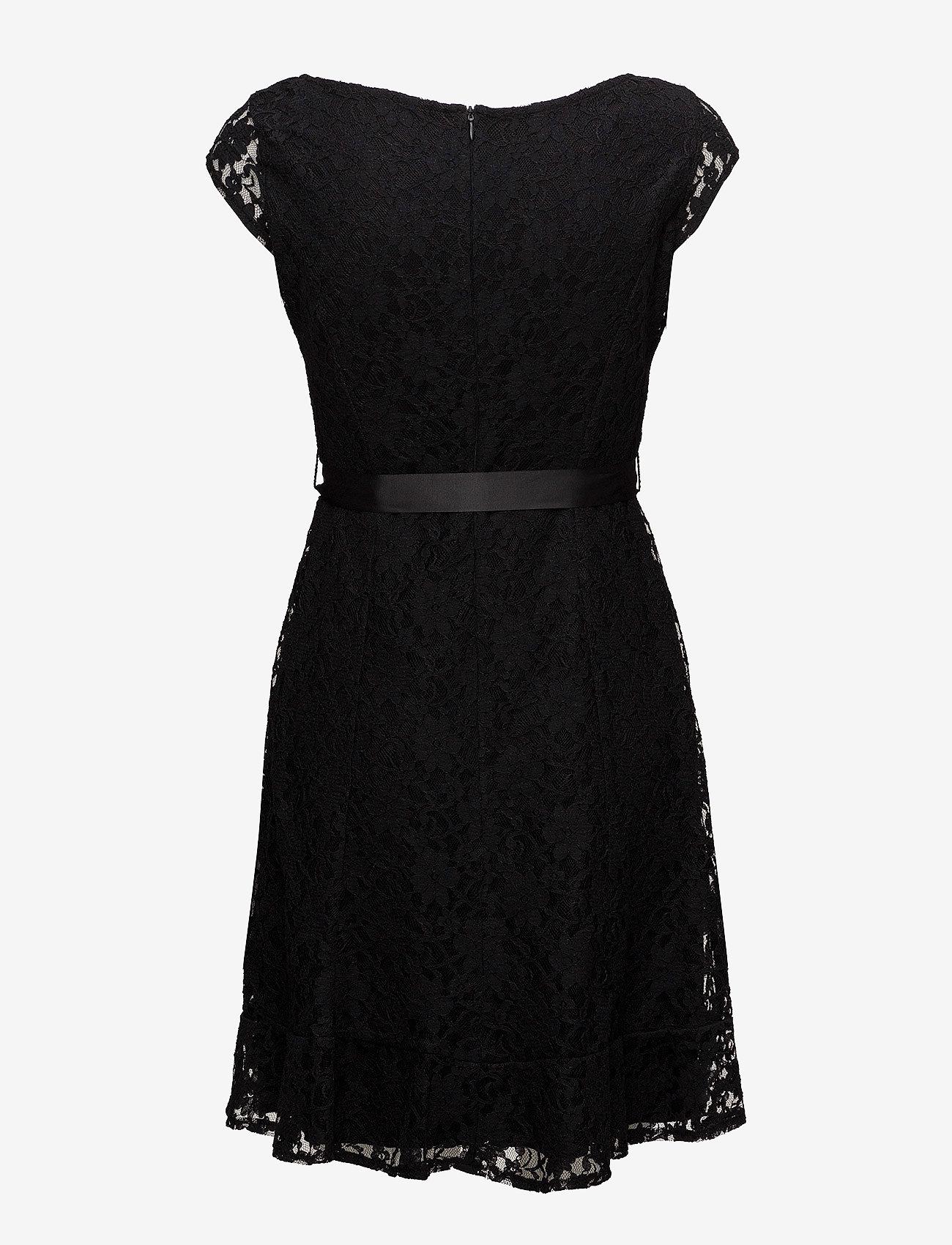 Taifun - DRESS WOVEN FABRIC - midimekot - black