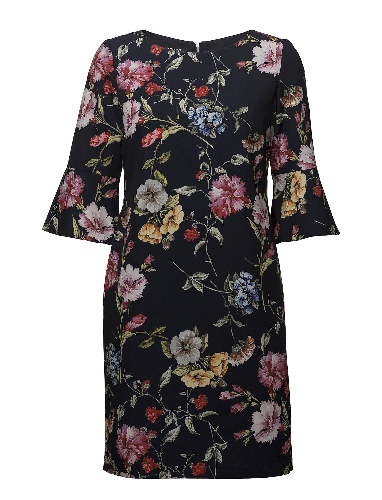Taifun DRESS WOVEN FABRIC - INK PRINT