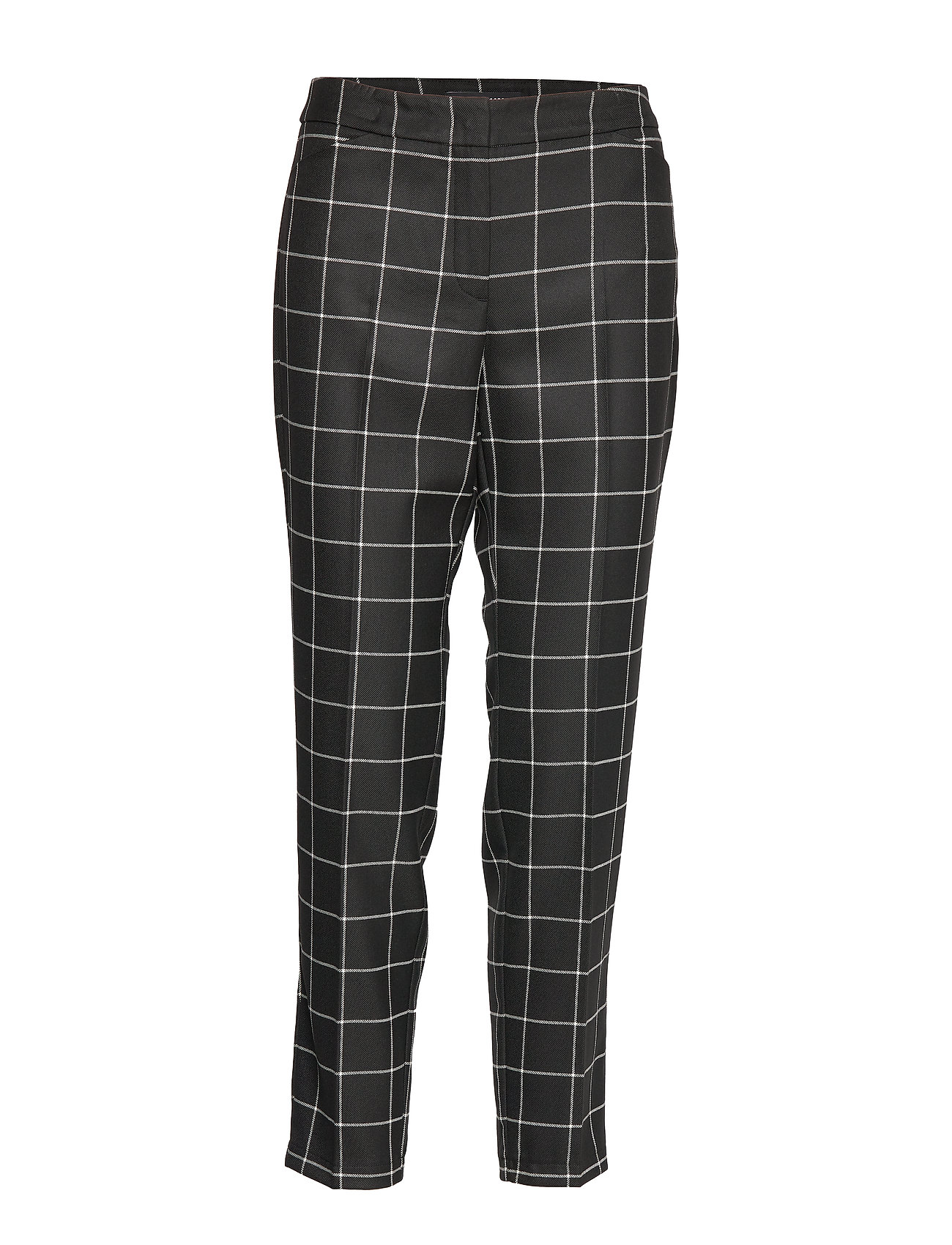 Taifun CROP LEISURE TROUSER - BLACK PATTERNED
