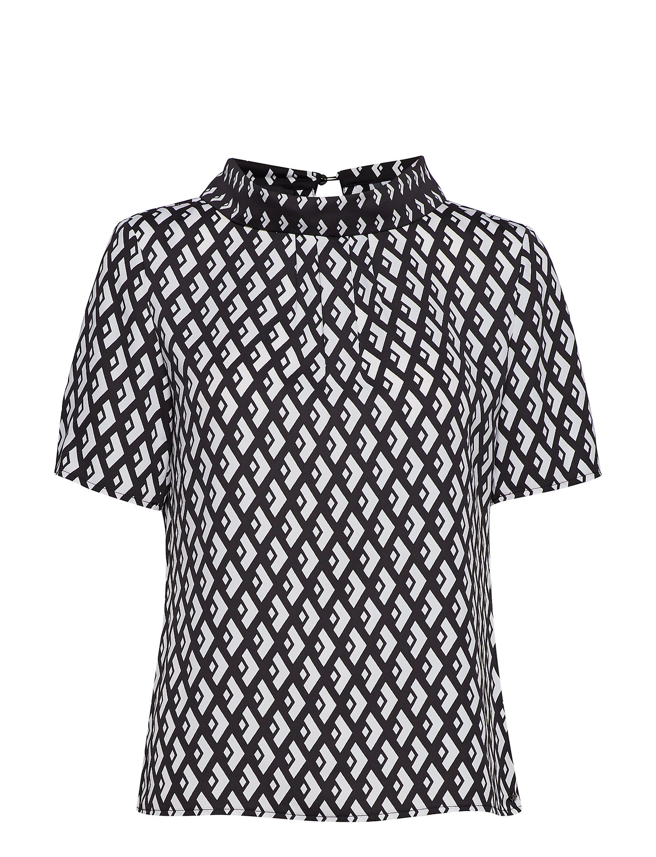 Taifun BLOUSE SHORT-SLEEVE - BLACK STRIPED