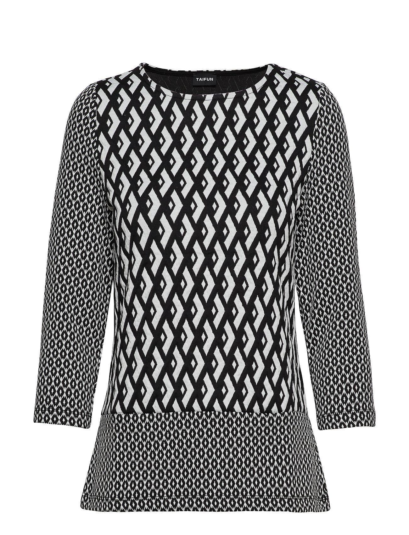 3 4 Rblack T PatternedTaifun shirt sleeve 7fb6vIYgy